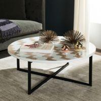 Safavieh Cheyenne Coffee Table in Warm Grey/White