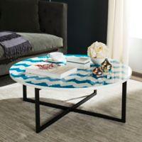 Safavieh Cheyenne Coffee Table in Blue/White