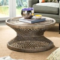 Safavieh Grimson Large Bowed Coffee Table in Grey/White
