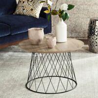 Safavieh Roper End Table in Light Grey/Black
