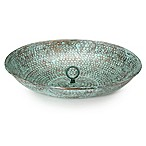 Good Directions Rain Chain Basin in Blue Verde