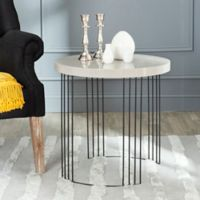 Safavieh Kelly Side Table in Taupe
