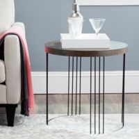 Safavieh Kelly Side Table in Dark Brown