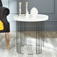 Safavieh Kelly Side Table in White