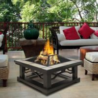 Real Flame® Crestone Wood Burning Fire Pit in Grey