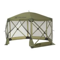Clam Outdoors Quick-Set® Escape™ 6-Sided Screen Shelter with Wind Panel Flaps in Green