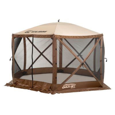Clam Outdoors Quick Set® Escape™ 6 Sided Screen Shelter With Wind Panel