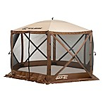Clam Outdoors Quick-Set® Escape™ 6-Sided Screen Shelter in Brown