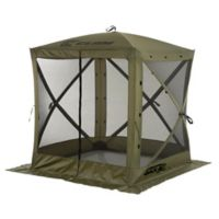 Clam Outdoors Quick-Set® Traveler™ Screen Shelter with Wind Panel Flaps in Green