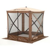 Clam Outdoors Quick-Set® Traveler™ Screen Shelter with Wind Panel Flaps in Brown