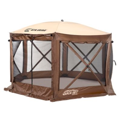Clam Outdoors Quick Set® Pavilion™ 6 Sided Screen Shelter With Wind Panel