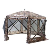 Clam Outdoors Quick-Set® Pavilion™ 6-Sided Screen Shelter with Wind Panel Flaps in Camo
