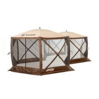 Clam Outdoors Quick-Set® Excursion™ Screen Shelter with Wind Panel Flaps in Brown