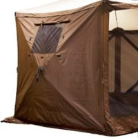 Clam 2-Pack Outdoor Quick-Set® Wind Panels with Window Panels in Brown