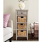 Safavieh Michaela Side Table in Vintage White