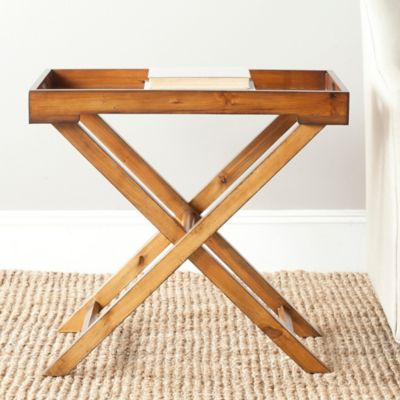 High Quality Safavieh Leo Tray Table In Brown