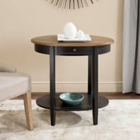 Safavieh Monica Oval End Table in Black