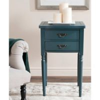 Safavieh Marilyn 2-Drawer End Table in Teal