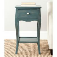 Safavieh Thelma 1-Drawer End Table in Teal