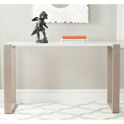 Safavieh Bartholomew Console Table In White/Grey