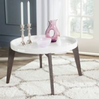 Safavieh Echo End Table in White/Brown