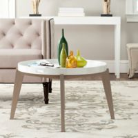 Safavieh Echo End Table in White/Grey