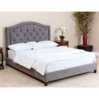 Abbyson Living Hillsdale Velvet Queen Bed in Grey