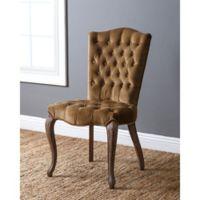 Abbyson Living French Vintage Velvet Dining Chair in Brown