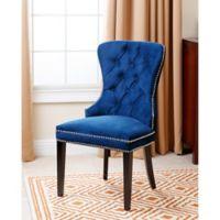 Abbyson Living Versailles Velvet Dining Chair in Blue