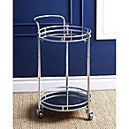 Abbyson Living® Marriot 2-Tier Round Bar Cart in Silver
