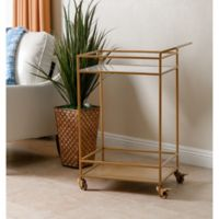 Abbyson Living Marriot 2-Tier Kitchen Cart in Gold