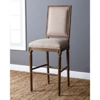 Abbyson Living French Vintage Rectangle-Back Barstool in Wheat