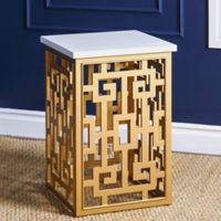 Abbyson Living® Marseille End Table in Gold