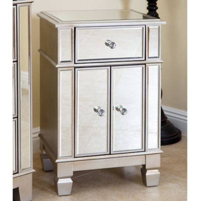Genial Abbyson Living Sophie Mirrored Accent Table In Silver