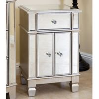 Abbyson Living Sophie Mirrored Accent Table in Silver