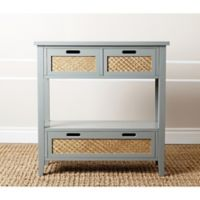 Abbyson Living Robins Console Table in Steel Blue