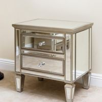 Abbyson Living® Omni Mirrored 2-Drawer Chest in Silver