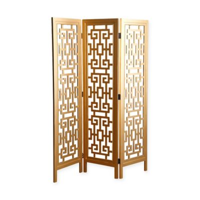 abbyson living marseille 3piece folding screen in gold