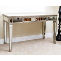 Abbyson Living® Omni Mirrored Desk in Silver