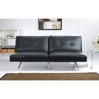Abbyson Living Aspen Linen Futon Sofa in Black
