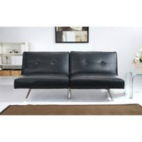 Abbyson Living Aspen Linen Futon Sofa In Black