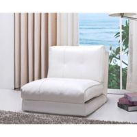 Abbyson Living® Jackson Single Sleeper Chair in White