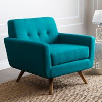 Abbyson Living Bradley Arm Chair in Blue