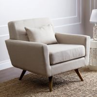 Abbyson Living Bradley Arm Chair in Ivory