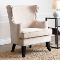 Abbyson Living Lauren Arm Chair in Cream