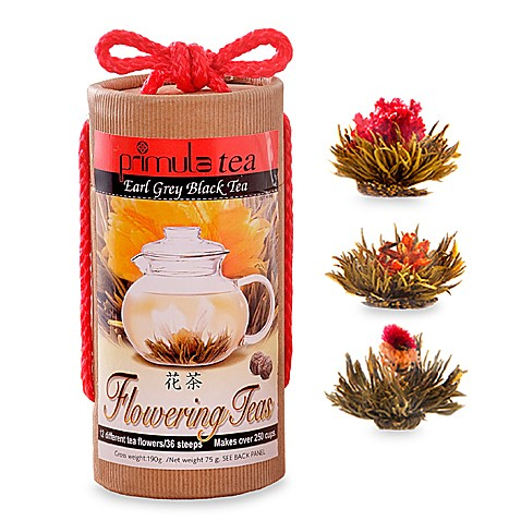 Numi Organic Tea Flowering Tea Gift Set, Includes 6 Flowering Tea Blossoms, 1 16 ounce Glass Teapot and Elegant Bamboo Case (Packaging May Vary), Gift For Tea Lover's Birthday, Anniversary, Valentine $ $