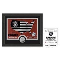 NFL Oakland Raiders Country Framed Wall Art with Bronze Team Coin