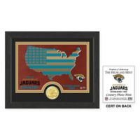 NFL Jacksonville Jaguars Country Framed Wall Art with Bronze Team Coin
