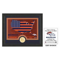 NFL Denver Broncos Country Framed Wall Art with Bronze Team Coin