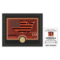 NFL Cincinnati Bengals Country Framed Wall Art with Bronze Team Coin